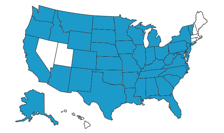 US Map After Seattle Trip